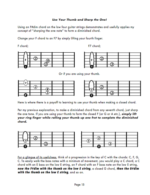 Example Chapter About Diminished Chords Chris Daring